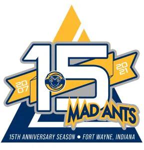 Logo Fort Wayne Mad Ants 15 ans